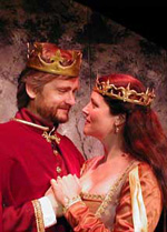 Bristol Riverside Theatre production of Camelot. Crowns by Caroline L. Guyer.