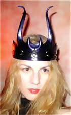 You're unique - wear this hand crafted sculpted leather crown to one of your interesting events or theater productions.